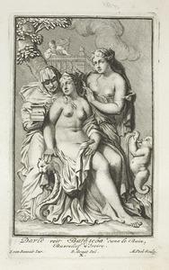 David bespiedt Batseba bij haar toilet (2 Samuel 11:1-2)