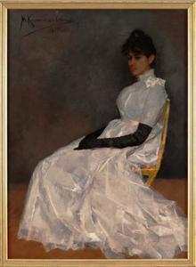 Portret van Jenny Kamerlingh Onnes (1863-1926)