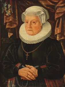 Portret van onbekende 60-jarige vrouw