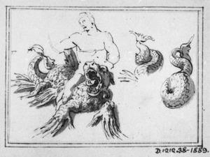 Fabeldier en studies van zijn staart