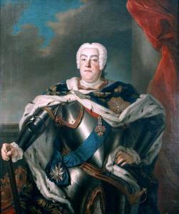 Portret van August III van Saksen, koning van Polen (1696-1760)