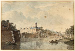 De Singelgracht met de Leidsepoort te Amsterdam