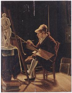 Zelfportret van Carel Jacob van Baar van Slangenburgh (1783-1845)