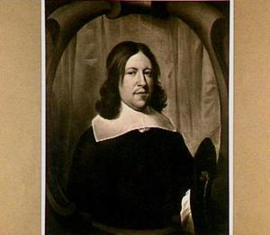 Portret van een man in een gebeeldhouwd cartouche