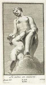 Venus en Amor, in verkort perspectief (pl. LIX)