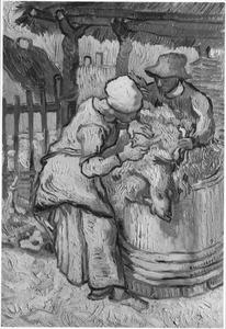 Schapenscheerders (naar Millet)