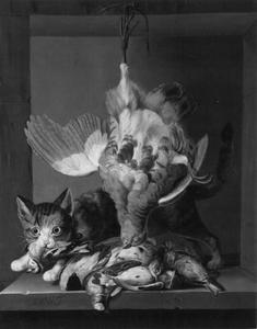 Jachtstilleven met kat