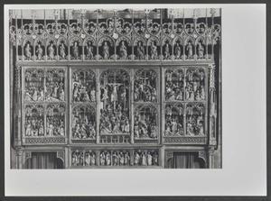 Het Laatste Avondmaal, Getsemane, Ecce Homo, Christus voor Pilatus (binnenzijde linkerluik); Christus voor Kajafas, de kruisdraging, de kruisiging, de kruisafneming, de bewening (midden); De graflegging, de opstanding, Christus' verschijningen, Christus' hemelvaart (binnenzijde rechterluik)