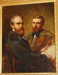 Portret van een kunstenaar en zijn zitter