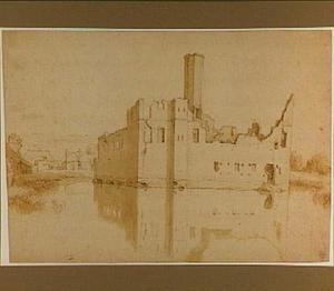 Ruïne van kasteel Spangen bij Rotterdam