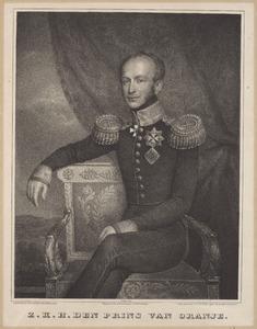 Portret van koning Willem II (1792-1849) als prins van Oranje