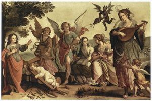 Allegorie van de triomf van het christelijke geloof op het heidendom