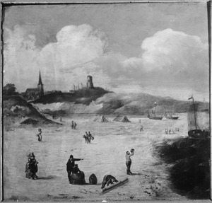 Strandgezicht (bij Scheveningen?)