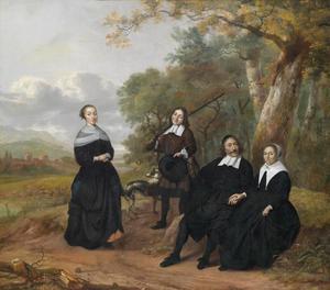 Portret van een familie, waarschijnlijk de familie van Pieter Jansz. de Koning (1630-1666)
