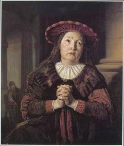 Hanna, de moeder van Samuel, biddend in de tempel (1 Samuel 1:11-12)
