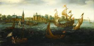 De thuiskomst te IJsselmonde, van het schip 'De Eendraght', na de ontdekkingstocht naar Kaap Hoorn