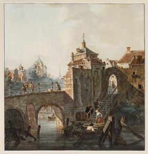 Spuipoort te Dordrecht in een gefantaseerde omgeving