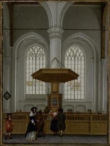 Interieur van de St. Laurenskerk in Rotterdam