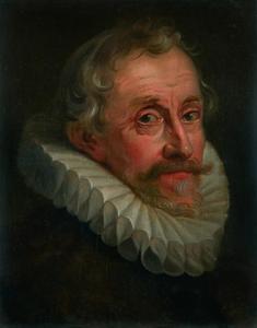 Portret van een man met een plooikraag