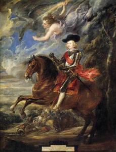 Ruiterportret van Ferdinand van Oostenrijk (1609-1641), kardinaal-infant van Spanje