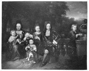 Portret van een onbekende familie, genaamd Goslinga of Wassenaar