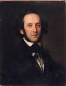 Portret van de Duitse componist Felix Mendelssohn-Bartholdy (1809-1847)