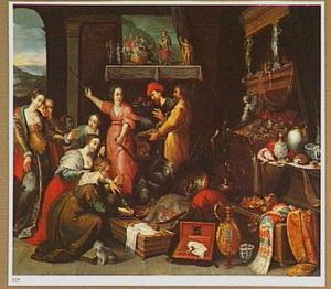 Achilles wordt ontdekt tussen de dochters van Lycomedes