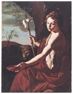 De heilige Johannes de Doper als jongeling in de wildernis