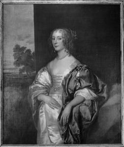 Portret van Mary Blacknall (1616-1650), echtgenote van Sir Ralph Verney