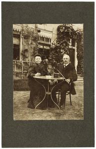 Portret van Sieds Gerrits Sijtsma (1856-1938) en Wypke Gerrits Reitsma (1858-1939)