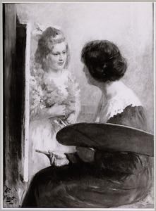 Portret van Suze Slager (1883-1964) en Suze Maria Catharina Slager (1917-2003)