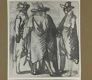 Groep staande mannen
