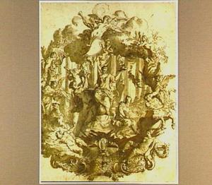 Allegorische voorstelling met Vrede,Oorlog en Ketterij