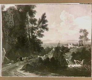 Zuidelijk landschap met een waterval