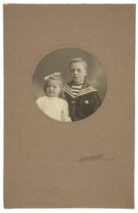 Dubbelportret van onbekende kinderen