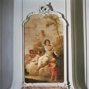 Allegorie in betrekking tot het timmermansambacht