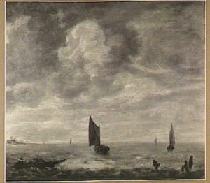 Visserssloep en andere schepen op een meer