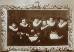 Groepsportret van de overlieden van een gilde