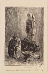 Stilleven met etnografica (in het Etnografisch Museum in Artis)