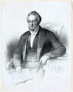 Portret van een man, waarschijnlijk Philipp Christiaan Molhuysen (1793-1865)