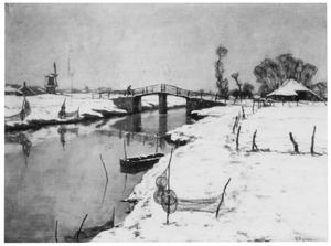 Hollands rivierladschap in de winter