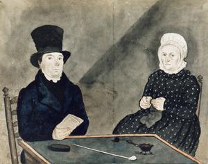 Dubbelportret van Hendrik van den Brink (1778-1847) en Anna Gerritsen (1777-1854)