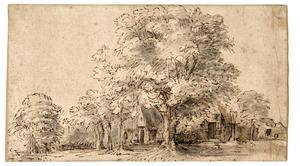 Boerenhuizen aan de Sloterweg, buiten Amsterdam