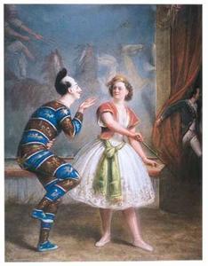 Circus Oscar Carré met de directrice Amalie Carré-Salamonsky en de clown August
