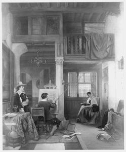 Het atelier van een zeventiende eeuwse Hollandse schilder