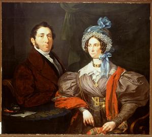 Portret van Dirk Welsink (17897-1855) en Louise Reith (1789-1855)