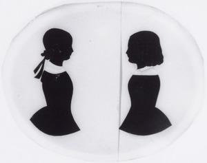Dubbelportret van Sara Anna Johanna Gijsberti Hodenpijl (1838-1912) en Alberta Aleida Gijsberti Hodenpijl (1840-1931)