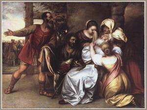 Jacob ontvangt de bebloede mantel van Jozef (Genesis 37:33-34)