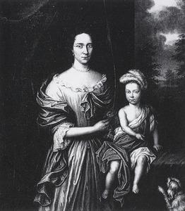 Portret van een onbekende vrouw en kind