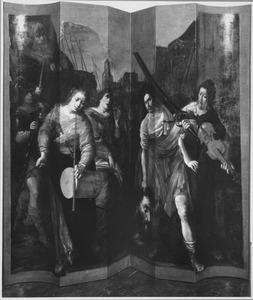 David wordt in triomf ingehaald met het hoofd van Goliat (1 Samuel 17:54)